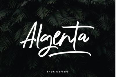 Algenta Handwritten Script