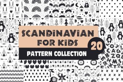 Scandinavian for kids black pattern