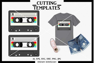 Cassette Tape SVG, Retro SVG, Silhouette, Cricut, Cameo, SVG