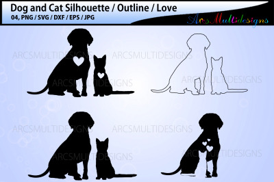 Dog and Cat vector SVG