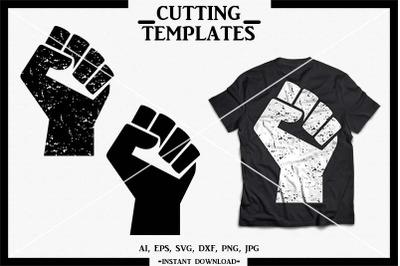 Fist SVG, Distressed Fist, Silhouette, Cricut, Cameo, SVG