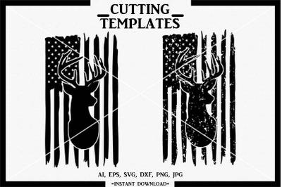 Distressed American Flag SVG, Silhouette, Cricut, Cameo, SVG