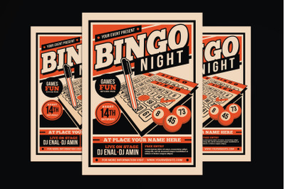 Bingo Night Event Flyer