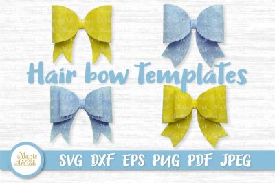 Hair bow template, Hair bow svg, Classic hair bow svg