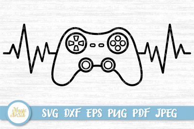 Game controller svg, Gamer svg, Heartbeat svg