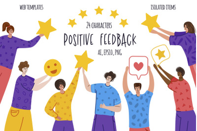 Positive Feedback - vector pack