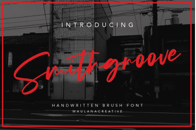 Smithgroove Handwritten Brush Font