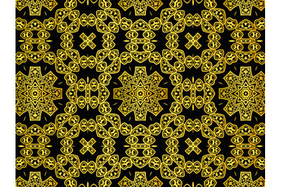 Pattern Abstract Gold Color Design