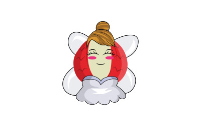 Lychee Fruit Fairy Cartoon Character