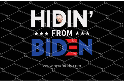 Hidin' from Biden PNG Sublimation Design
