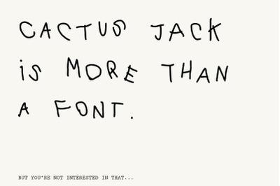 Cactus Jack Font