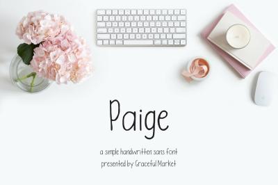 Paige | HANDWRITTEN SANS FONT