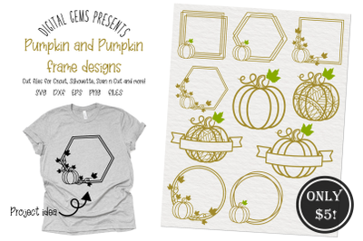 Pumpkin and frame designs