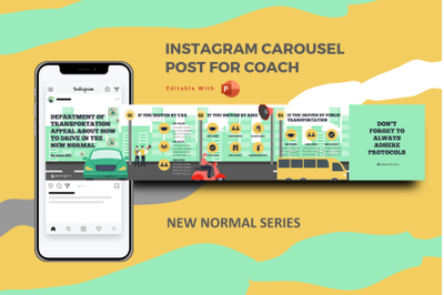How to drive in the new normal instagram carousel powerpoint template