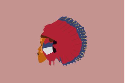American Tribe Flat Illustration