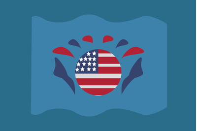 American Circle Symbol Design