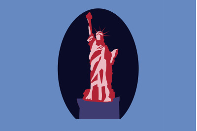 Red Liberty Vector Illustration