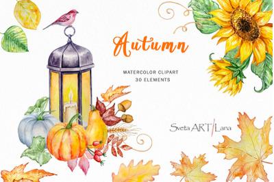 Autumn Watercolor Set