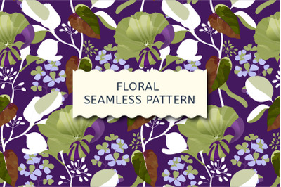 Floral seamless pattern. Autumn mallow.