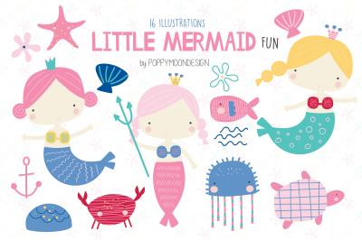 Little Mermaid fun clipart