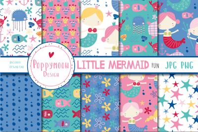 Little Mermaid fun paper