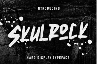 Skulrock Hard Display Typeface
