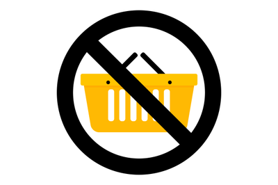 Not shopping icon
