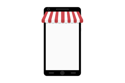 Online shopping on smartphone. Web store
