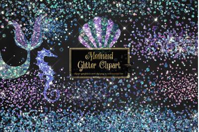 Mermaid Glitter Clipart