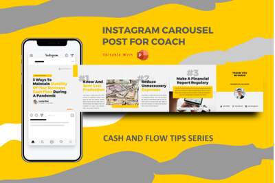 Money management instagram carousel powerpoint template