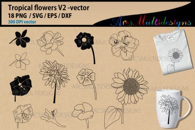 Flower silhouette svg / Sunflower svg