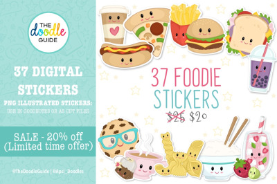 Cute Foodie Stickers