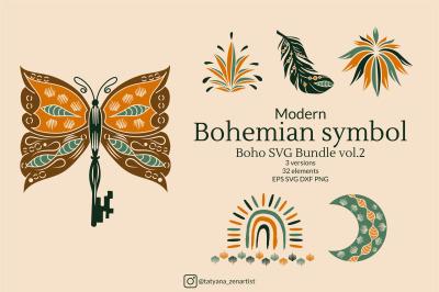 Modern Bohemian Symbol, Boho SVG Bundle #2