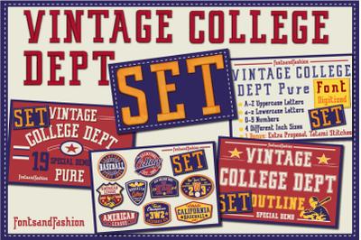 Vintage College Dept_Set