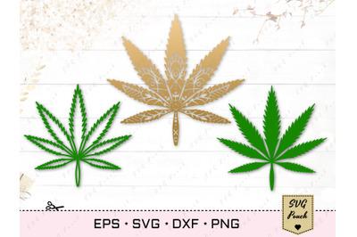 Cannabis leaf SVG