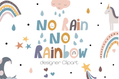 No Rain No Rainbow Clipart