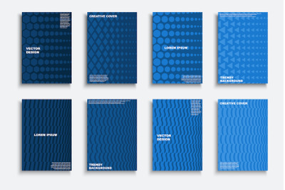 Abstract blue geometric covers