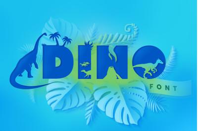 Dino Font - Cute Dinosaur Typeface