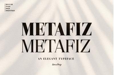 Metafiz - An elegant font