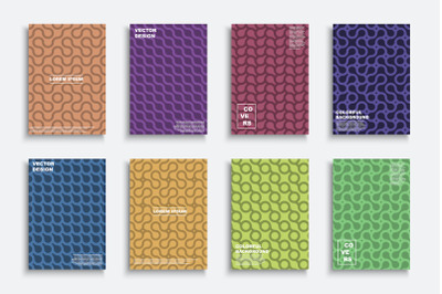 Bright colorful geometric covers