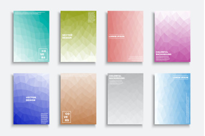 Colorful vibrant abstract covers