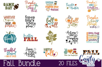 Fall Svg Bundle, Autumn Cut File, Pumpkin Spice Bundle Svg
