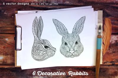 6 rabbits set