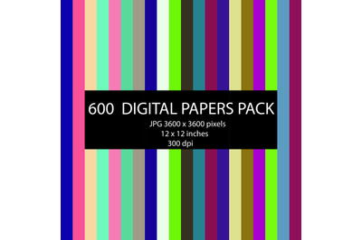 600 digital papers,colored stripes background