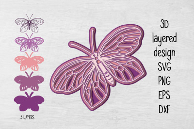 3D Layered Butterfly