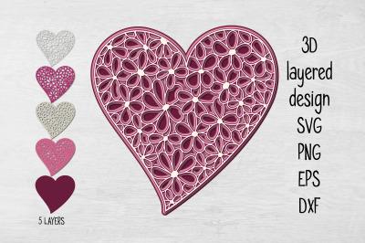 3D Layered Heart