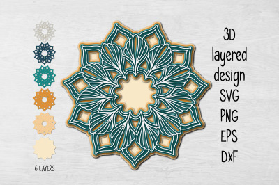 Multilayer Mandala SVG