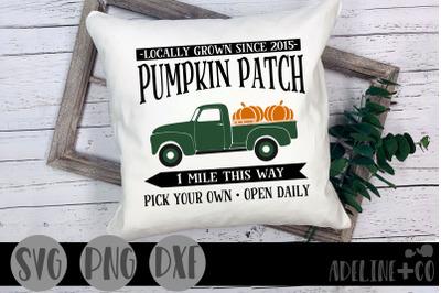 Pumpkin patch truck SVG, PNG, DXF