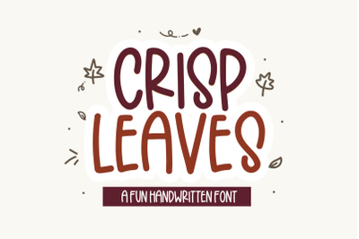 Crisp Leaves - Handwritten Font with Fall Doodles!