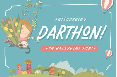 Darthon! - Fun Ballpoint Typeface